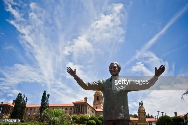 A nine metre high statue of former President Nelson Mandela is unveiled on December 16 2013 in Pretoria South Africa The statue situated at the front...
