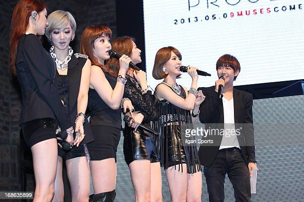 Nine Muses perform onstage during their mini album 'Wild' showcase at Club Ellui on May 8 2013 in Seoul South Korea