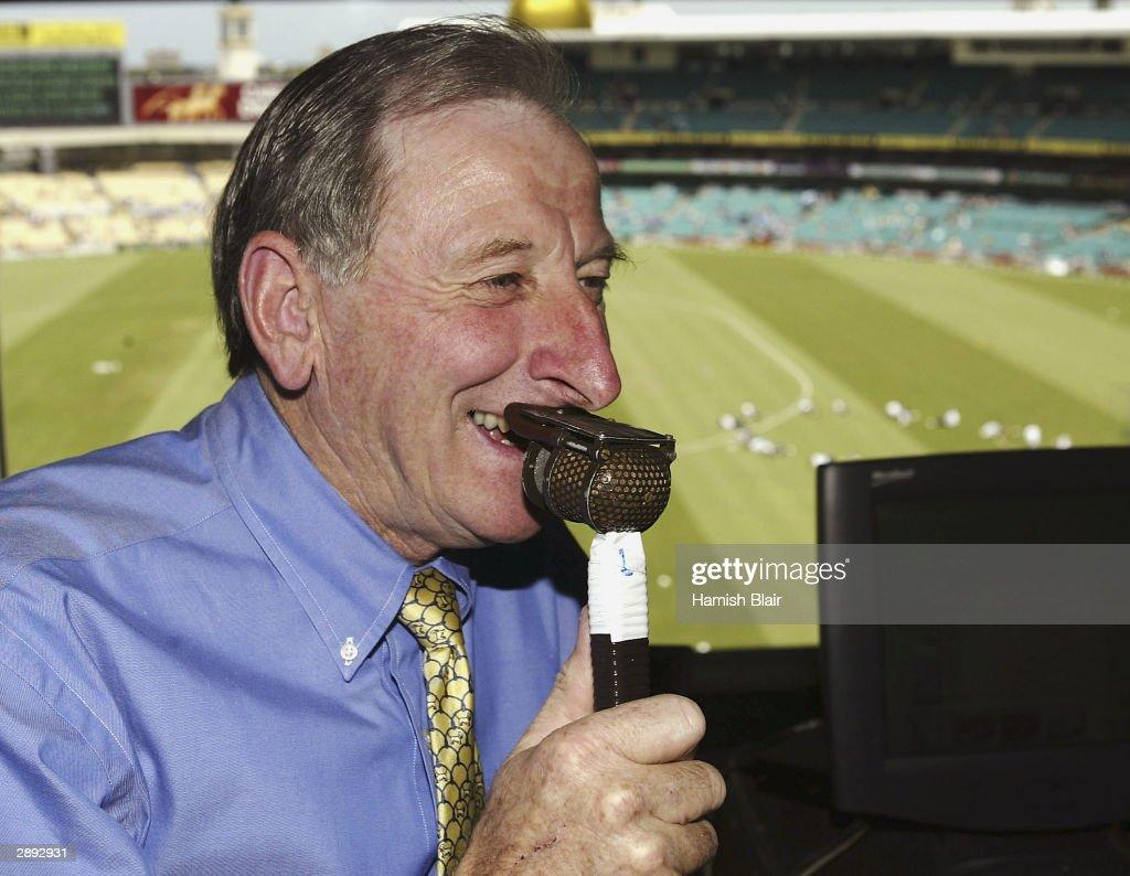 Nine Network Commentator Bill Lawry at the SCG on January 22, 2004 in Sydney, Australia.
