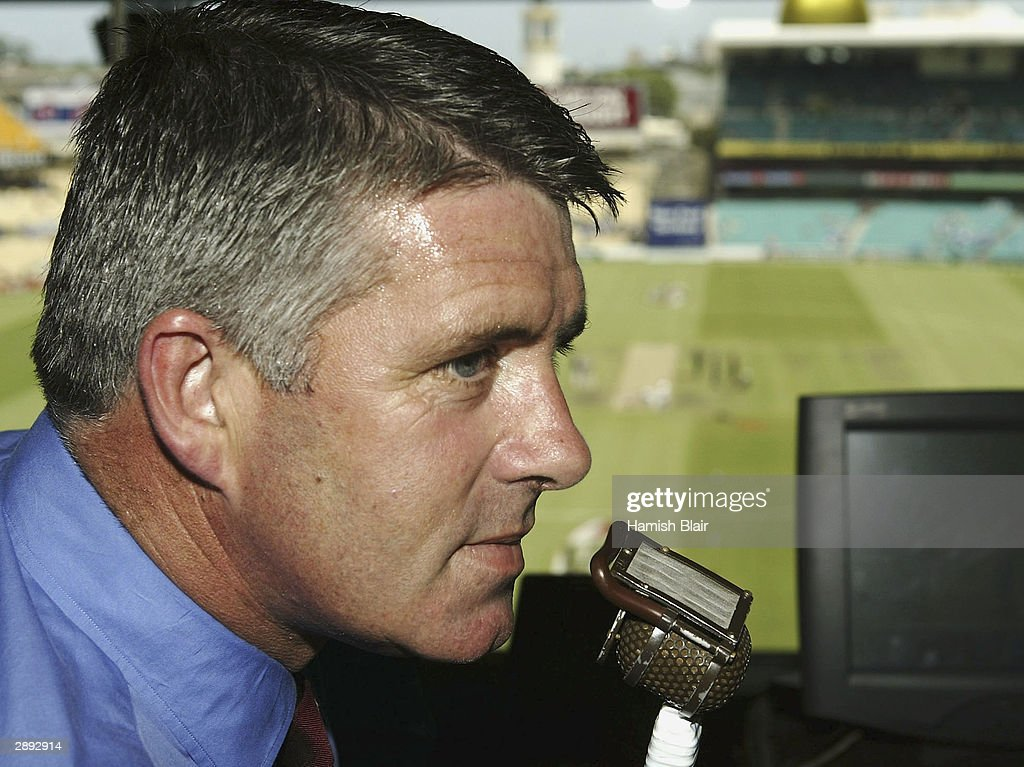Nine Network Commentator Simon O'Donnell at the SCG on January 22, 2004 in Sydney, Australia.