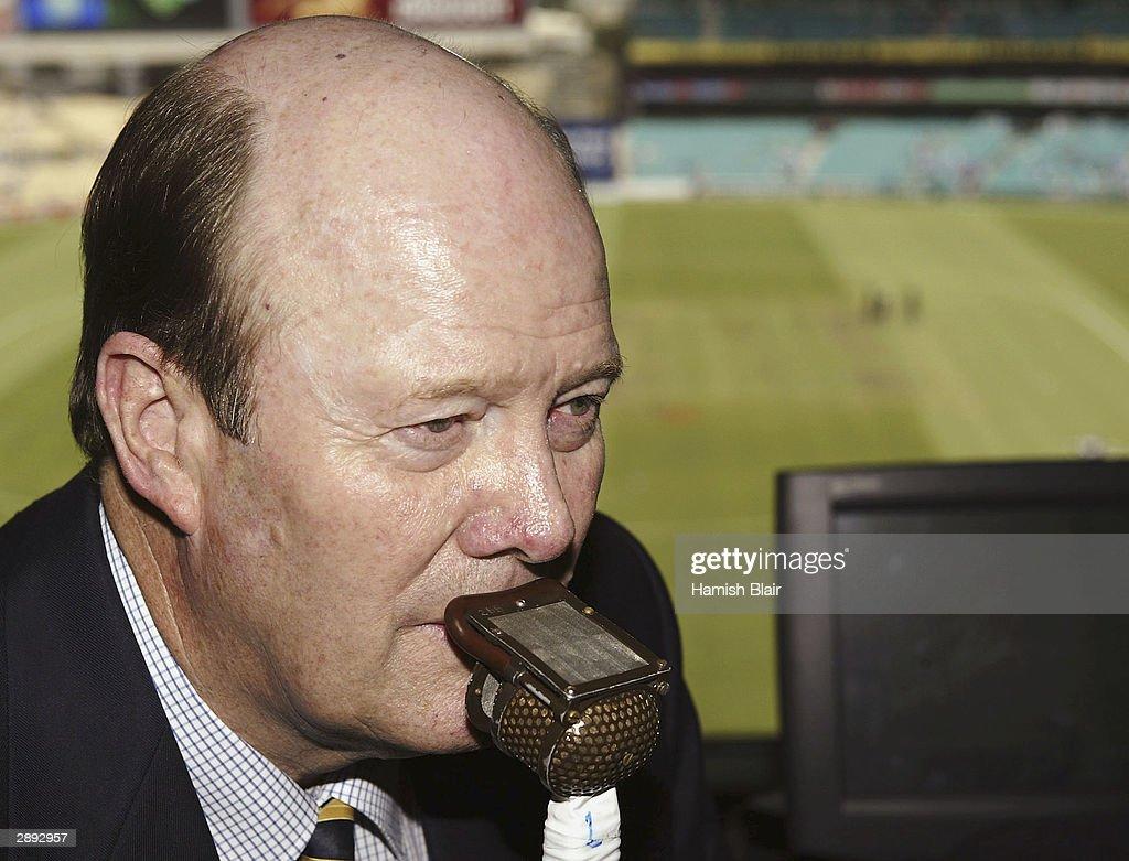 Nine Network Commentator Tony Greig at the SCG on January 22, 2004 in Sydney, Australia.