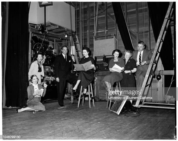 Nine O'Clock Players 12 January 1953 Janet ThompsonMiss Kathryne BeynonFrank SwankHarriet PaanakkerMrs William R FlowerMrs Norman CourteneyWilliam...