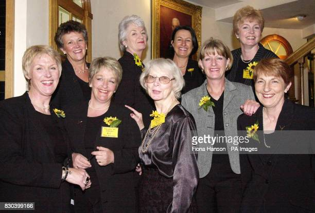 Nine of the eleven Rylstone and District Womens Institute members at Hatchards bookshop in Piccadilly London launching a new edition of their...