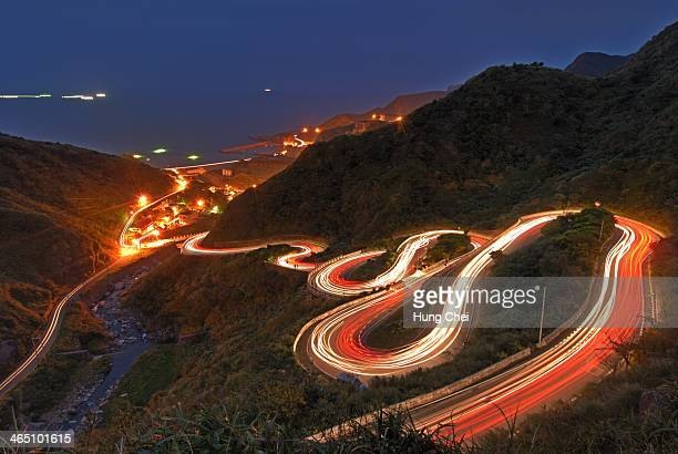 nine s curve - new taipei city stock pictures, royalty-free photos & images
