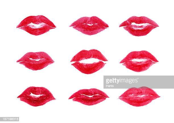 9 室のスイートキス - キスマーク ストックフォトと画像