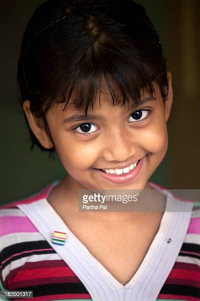 A nine year old Bengali girl in different moods