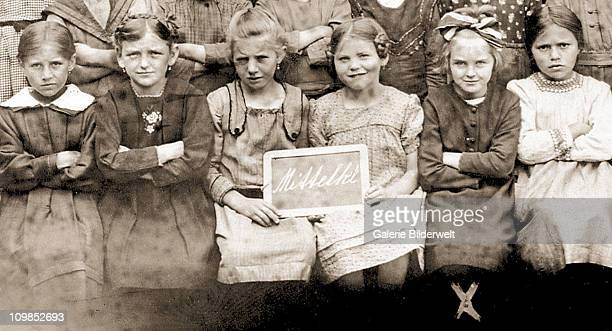 Nine year-old Eva Braun , with some of her classmates at the Beilngries convent school Beilngries, Germany, 1922. Beilngries is 70 miles north of...