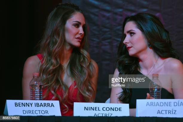 Ninel Conde and Ariadne Diaz attends at 'Arpias' press conference to announce the launching of the Theater play on October 06 2017 in Mexico City...