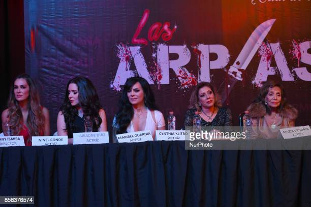 Ninel Conde Ariadne Diaz Maribel Guardia Cynthia Klitbo and Maria Victoria attends at 'Arpias' press conference to announce the launching of the...