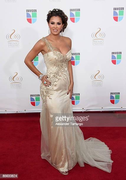 Ninel Conde arrives at Univision's ''Premio Lo Nuestro a La Musica Latina'' Awards at Bank United Center on March 26 2009 in Coral Gables Florida