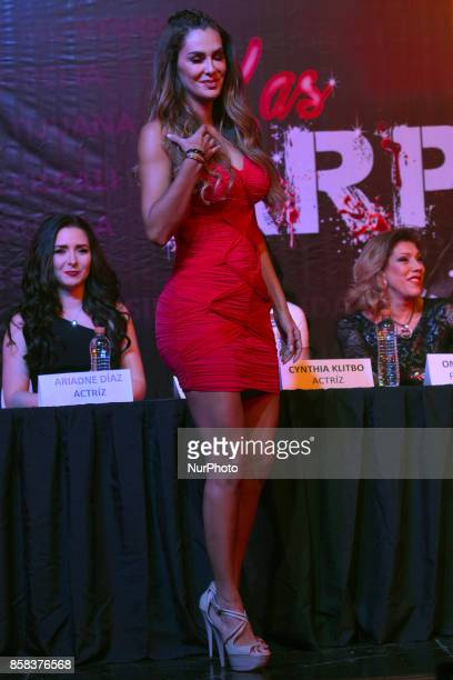 Ninel Conde attends at 'Arpias' press conference to announce the launching of the Theater play on October 06 2017 in Mexico City Mexico