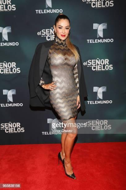 Ninel Conde attends El Senor De los Cielos Season 6 premiere red carpet at Torre Virrelles on May 7 2018 in Mexico City Mexico