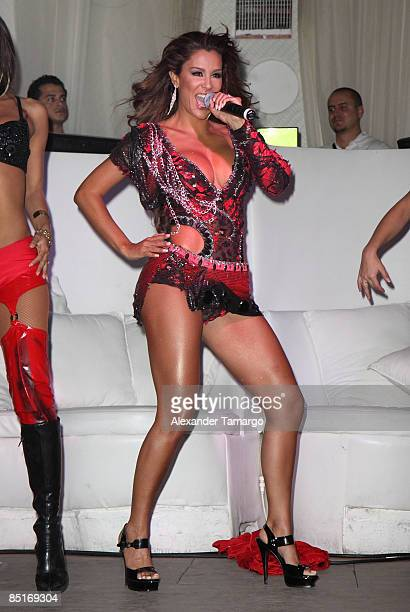 Ninel Conde attends TV Notas USA 10th Anniversary Party at Nikki Beach on February 28 2009 in Miami Beach Florida