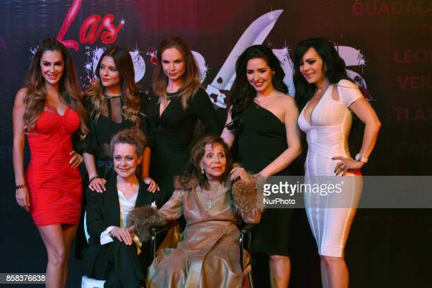 Ninel Conde Grettell Valdez Ana Patricia Rojo Ariadne Diaz Maribel Guardia Silvia Mariscal and Maria Victoria attends at 'Arpias' press conference to...