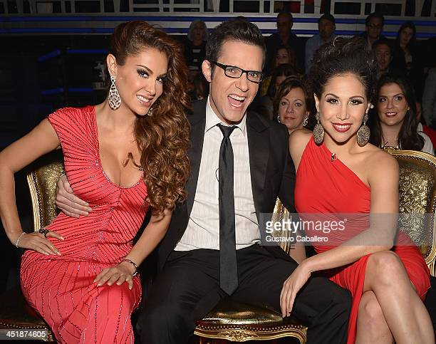 "Ninel Conde, Horacio Villalobos and Bianca Marroquin participates in ""Mira Quien Baila"" Grand Finale at Univision Headquarters on November 24, 2013..."