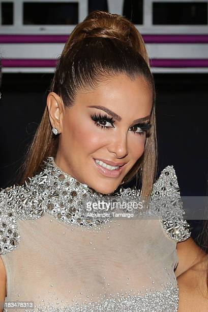 Ninel Conde is seen during Univision's Mira Quien Baila dance competition at Univision Headquarters on October 6 2013 in Miami Florida