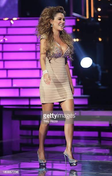 Ninel Conde participates in premiere of Univision's 'Mira Quien Baila'show on September 14 2013 in Miami Florida