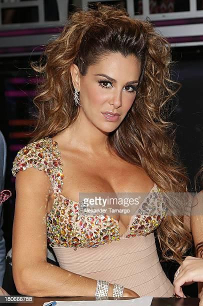 Ninel Conde participates in the premiere of Univisions Mira Quien Baila show at Univision Studios on September 14 2013 in Miami Florida