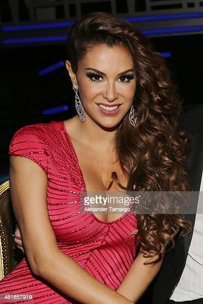 Ninel Conde participates in Univision's 'Mira Quien Baila' Grand Finale at Univision Headquarters on November 24 2013 in Miami Florida