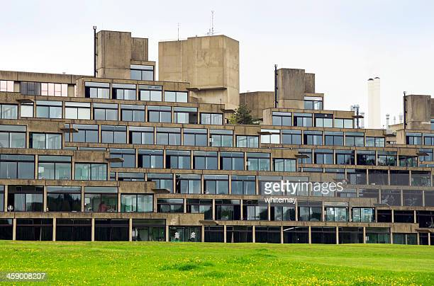 nineteen sixties architecture at uea - east anglia stock photos and pictures
