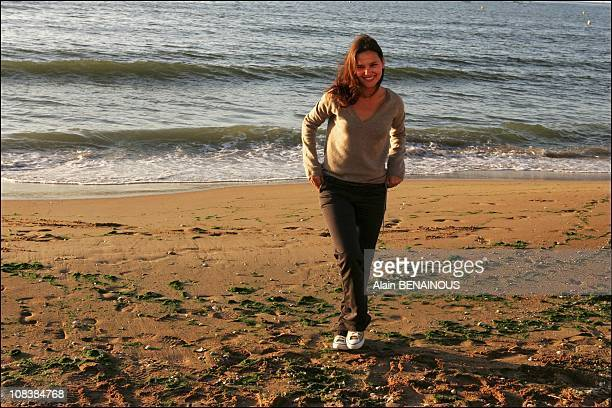 Nineteenth Cabourg romantic film festival Virginie Ledoyen and Titof in Cabourg France on June 16 2005