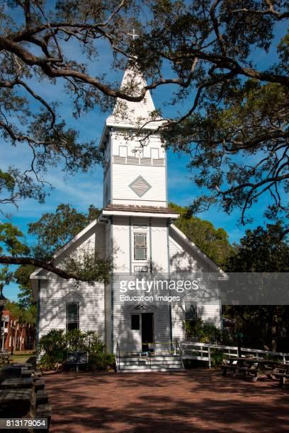 Nineteenth century church in Manatee Village Historical Park Bradenton Florida