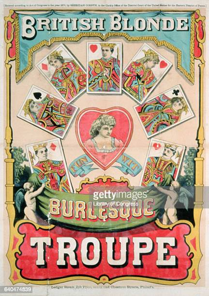 Nineteenth Century Theater Poster for British Blonde Burlesque Troupe