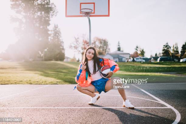 nineties basketball fashion and accessory woman - sporting term stock pictures, royalty-free photos & images