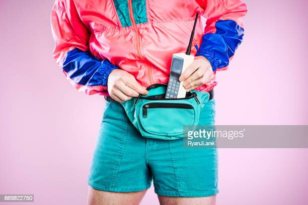 nineties tech and fashion style man - fashion oddities stock pictures, royalty-free photos & images