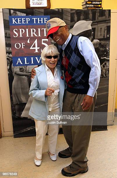 Ninety oneyearold Edith Shain meets with a veteran at the San Francisco VA Medical Center April 20 2010 in San Francisco California Shain who claims...