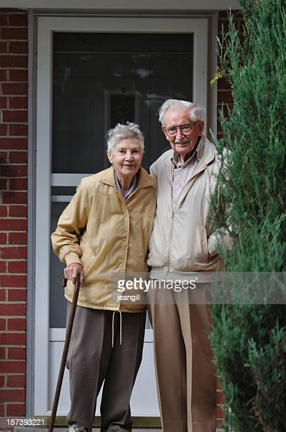 Ninety year old man with wife
