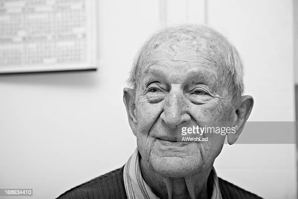 Ninety year old senior male portrait