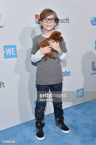 Nineyearold multiawardwinning actor Jacob Tremblay walks the WE Carpet at WE Day California 2016 at The Forum on April 7 2016 in Inglewood California