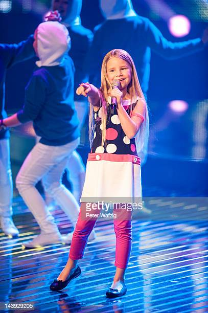 Nineyearold Skyla performs during DSDS Kids 1st Show at Coloneum on May 05 2012 in Cologne Germany