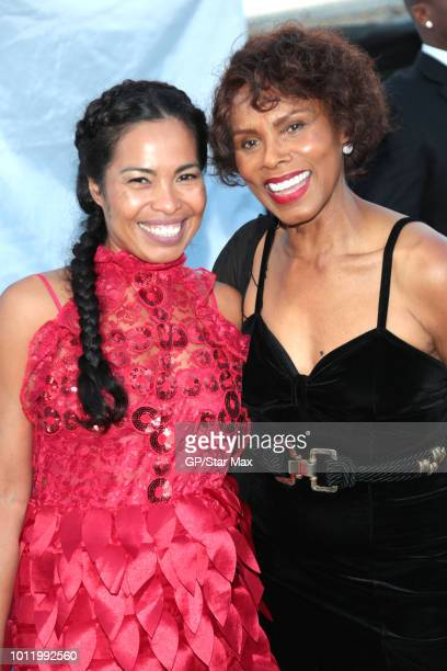 Ninfa Nikki Perez and Gloria Hendry are seen on August 5 2018 in Los Angeles CA