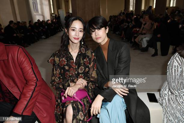 Ning Chang and Hikari Mori attend the Salvatore Ferragamo show during Milan Fashion Week Autumn/Winter 2019/20 on February 23 2019 in Milan Italy