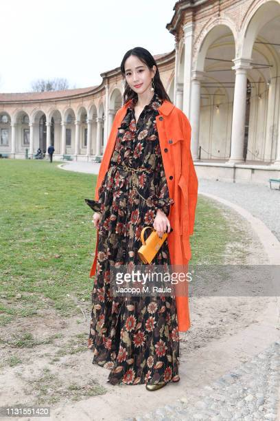 Ning Chang attend the Salvatore Ferragamo show during Milan Fashion Week Autumn/Winter 2019/20 on February 23, 2019 in Milan, Italy.