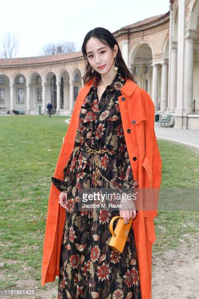 Ning Chang attend the Salvatore Ferragamo show during Milan Fashion Week Autumn/Winter 2019/20 on February 23 2019 in Milan Italy