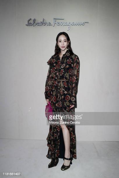 Ning Chang attends the Salvatore Ferragamo show during Milan Fashion Week Autumn/Winter 2019/20 on February 23 2019 in Milan Italy