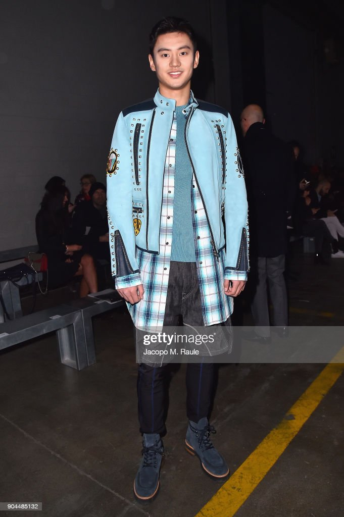 Ning Zetao attends the Diesel Black Gold show during Milan Men's Fashion Week Fall/Winter 2018/19 on January 13, 2018 in Milan, Italy.