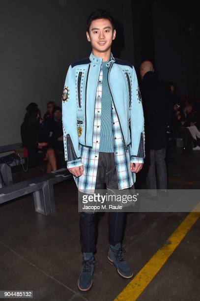 Ning Zetao attends the Diesel Black Gold show during Milan Men's Fashion Week Fall/Winter 2018/19 on January 13 2018 in Milan Italy
