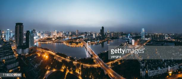 ningbo city architecture scenery - ningbo stock pictures, royalty-free photos & images