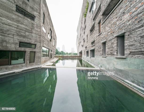 Ningbo museum of art, View the water platform