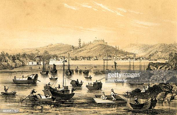 'Ningbo one of the five ports opened by the late treaty to British commerce' China 1847 The Treaty of Nanking in 1842 after the First Opium War...