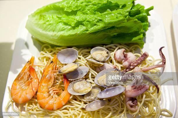 Ningbo, Zhejiang Province, the characteristics of snacks seafood noodles