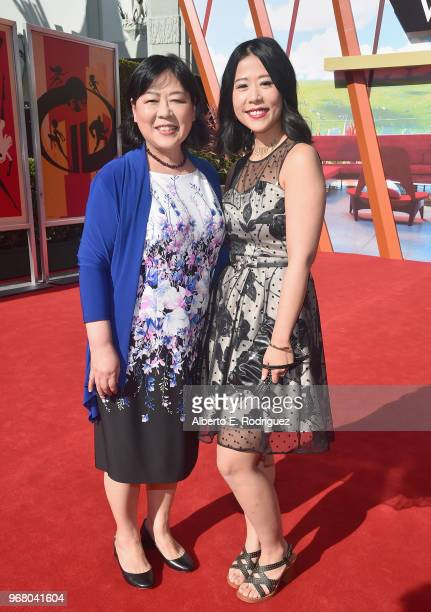 Ningsha Zhong and Domee Shi attend the World Premiere Of DisneyPixar's Incredibles 2 at El Capitan Theatre on June 5 2018 in Los Angeles California