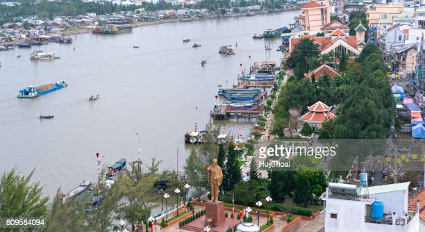 ninh kieu wharf overlooking the riverbank - can tho province stock pictures, royalty-free photos & images
