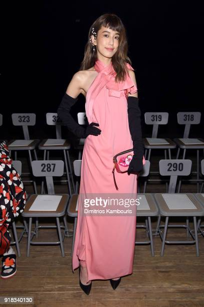 Nini Chen attends the Marc Jacobs Fall 2018 Show at Park Avenue Armory on February 14 2018 in New York City