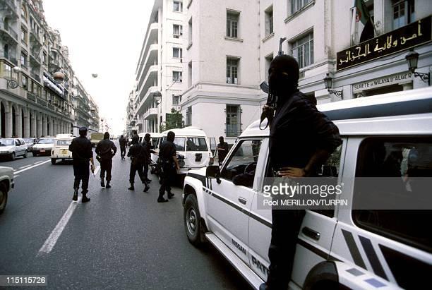 Ninja' antiterrorist unit in Algiers Algeria on October 28 1993 Center of Algiers