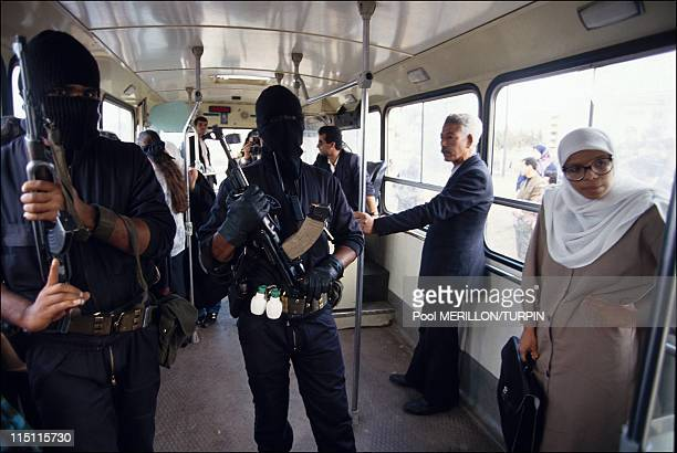 Ninja' antiterrorist unit in Algiers Algeria on October 28 1993